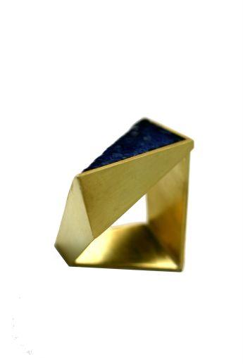 Gouden ring - wit